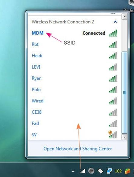 how to set up ssid